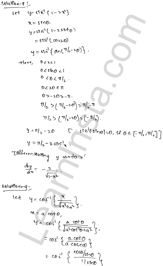 RD Sharma Class 12 Solutions Differentiation Chapter 11 Ex 11.3 5