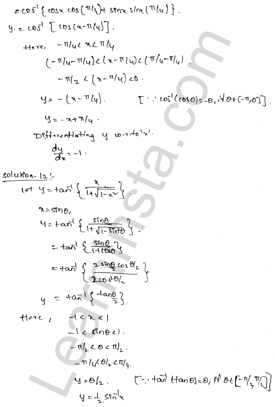 RD Sharma Class 12 Solutions Differentiation Chapter 11 Ex 11.3 7