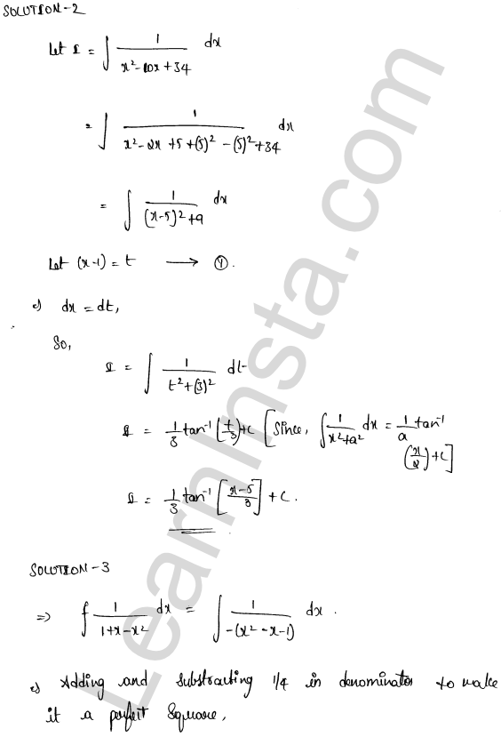 RD Sharma Class 12 Solutions Indefinite Integrals Chapter 19 Ex 19.15 2