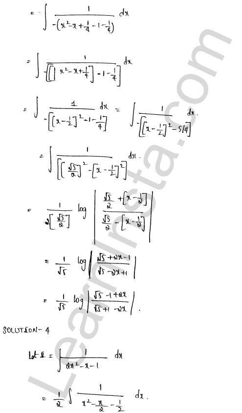 RD Sharma Solutions Class 12 Indefinite Integrals Chapter 19 Ex 19.15 3