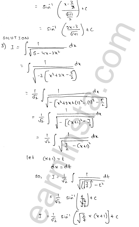 RD Sharma Class 12 Solutions Indefinite Integrals Chapter 19 Ex 19.17 2