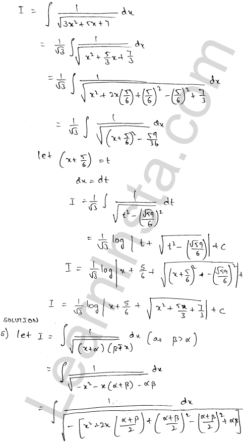 RD Sharma Solutions Class 12 Indefinite Integrals Chapter 19 Ex 19.17 3