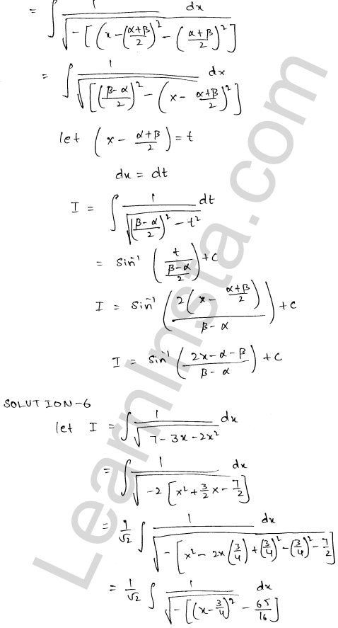 RD Sharma Class 12 Maths Solutions Chapter 19 Indefinite Integrals Ex 19.17 4