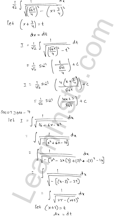 Solution of RD Sharma class 12 chapter 19 Indefinite Integrals Ex 19.17  5