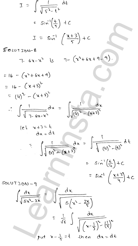 Class 12 RD Sharma solutions chapter 19 Indefinite Integrals Ex 19.17 6