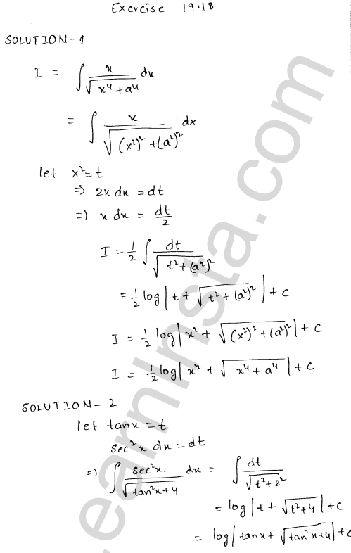 RD Sharma Class 12 Solutions Chapter 19 Indefinite Integrals Ex 19.18 1