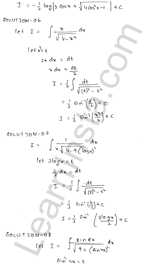 RD Sharma Solutions Class 12 Indefinite Integrals Chapter 19 Ex 19.18 3
