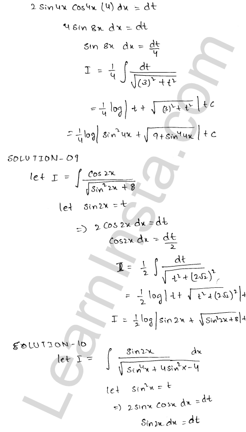 RD Sharma Class 12 Maths Solutions Chapter 19 Indefinite Integrals Ex 19.18 4