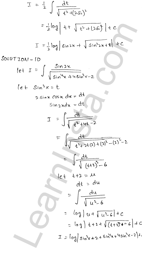 Solution of RD Sharma class 12 chapter 19 Indefinite Integrals Ex 19.18  5