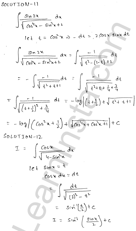 Class 12 RD Sharma solutions chapter 19 Indefinite Integrals Ex 19.18 6