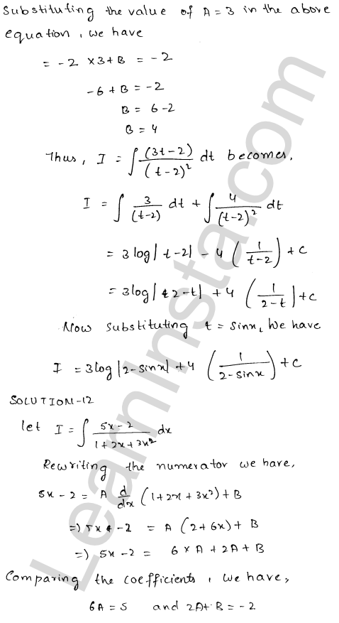 RD Sharma Class 12 Maths Solutions Chapter 19 Indefinite Integrals Ex 19.19 11