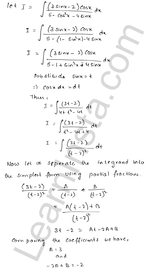 Solution of RD Sharma class 12 chapter 19 Indefinite Integrals Ex 19.19  12