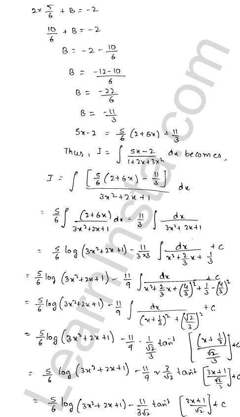 Class 12 RD Sharma solutions chapter 19 Indefinite Integrals Ex 19.19 13