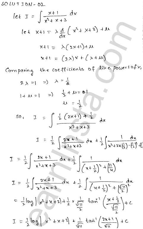 RD Sharma Class 12 Solutions Indefinite Integrals Chapter 19 Ex 19.19 2