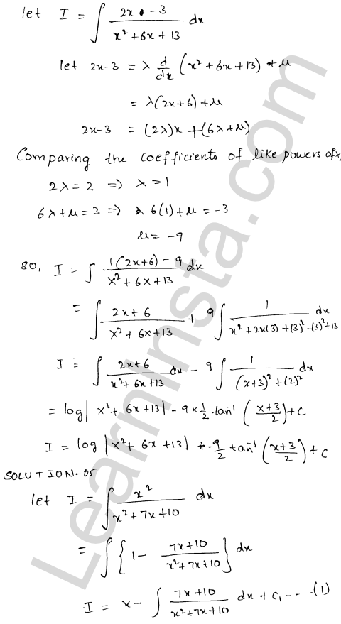 RD Sharma Class 12 Maths Solutions Chapter 19 Indefinite Integrals Ex 19.19 4