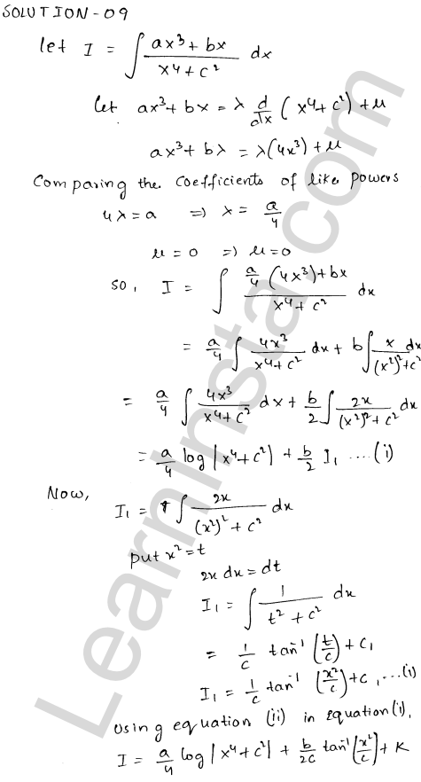 RD Sharma Class 12 Solutions Indefinite Integrals Chapter 19 Ex 19.19 9