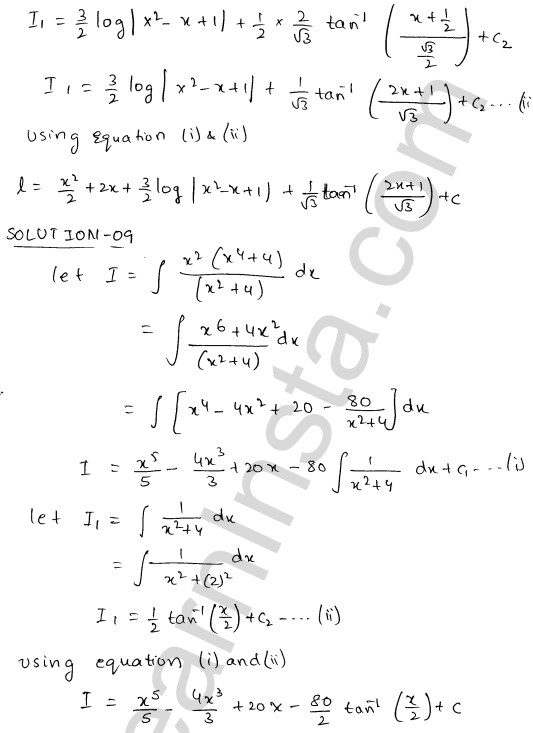 RD Sharma Solutions Class 12 Indefinite Integrals Chapter 19 Ex 19.20 10