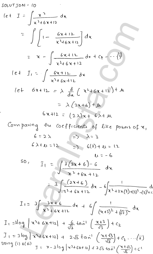 RD Sharma Class 12 Maths Solutions Chapter 19 Indefinite Integrals Ex 19.20 11