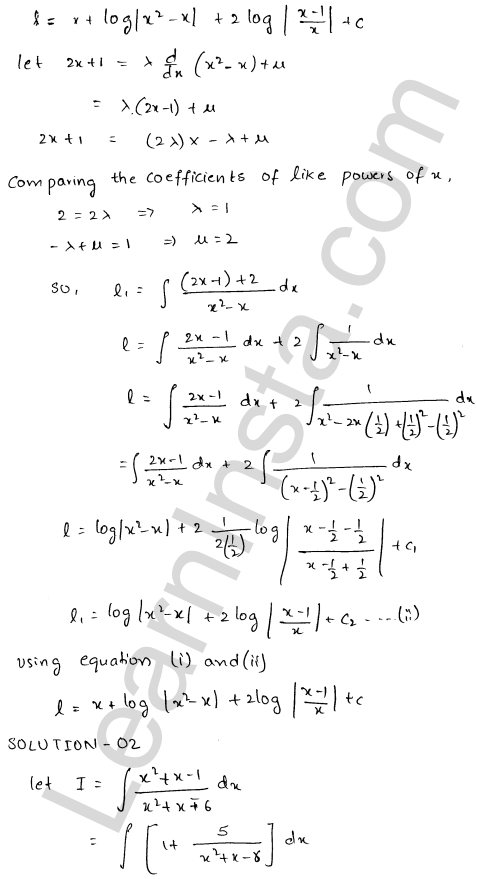 RD Sharma Class 12 Solutions Indefinite Integrals Chapter 19 Ex 19.20 2