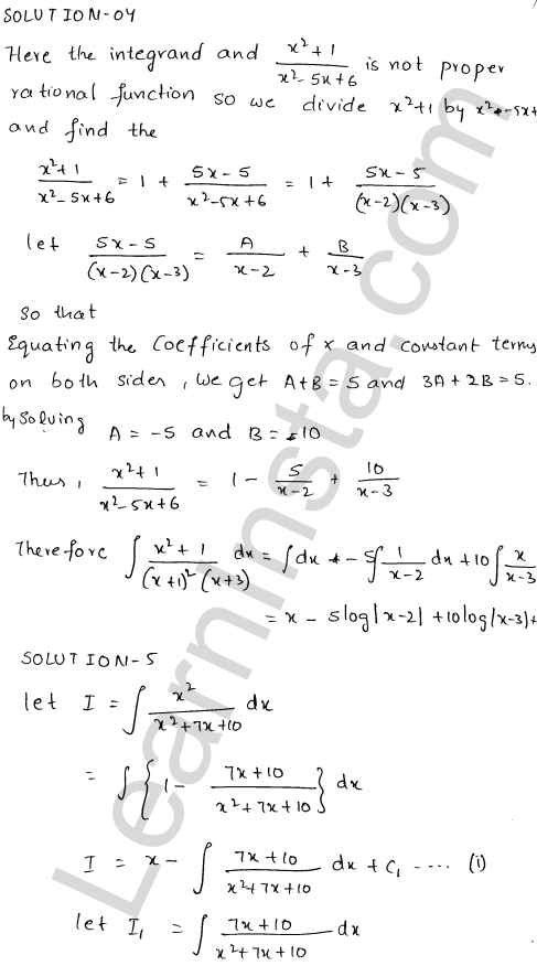 Solution of RD Sharma class 12 chapter 19 Indefinite Integrals Ex 19.20 5