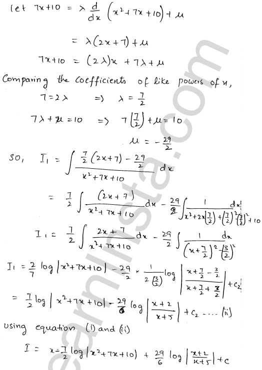 Class 12 RD Sharma solutions chapter 19 Indefinite Integrals Ex 19.20 6