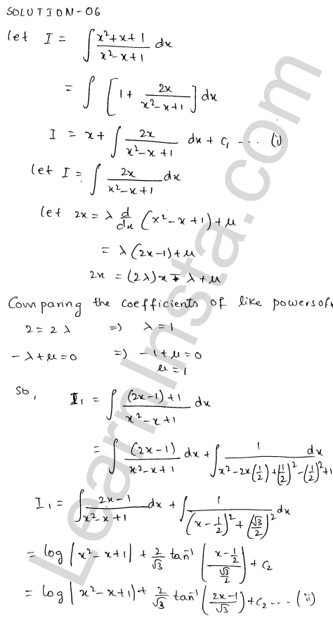 Class 12 RD Sharma maths solutions chapter 19 Indefinite Integrals Ex 19.20 7