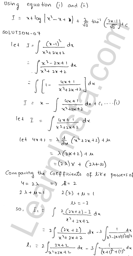 RD Sharma Class 12 Solutions Chapter 19 Indefinite Integrals Ex 19.20 8