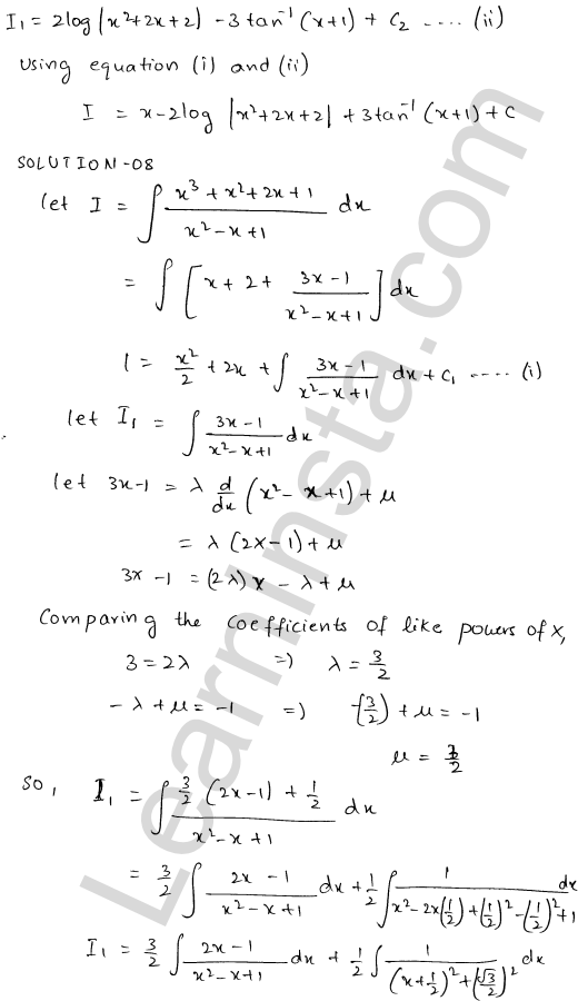RD Sharma Class 12 Solutions Indefinite Integrals Chapter 19 Ex 19.20 9