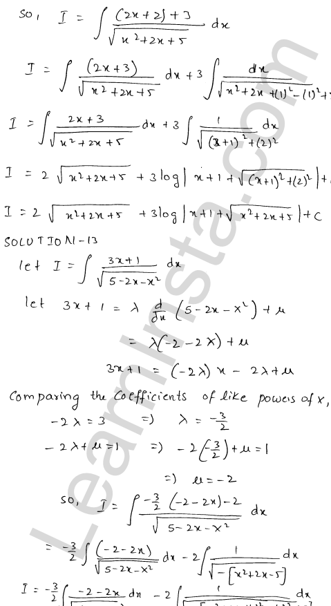 RD Sharma Solutions Class 12 Indefinite Integrals Chapter 19 Ex 19.21 10