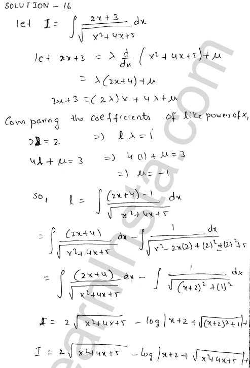 Class 12 RD Sharma solutions chapter 19 Indefinite Integrals Ex 19.21 13