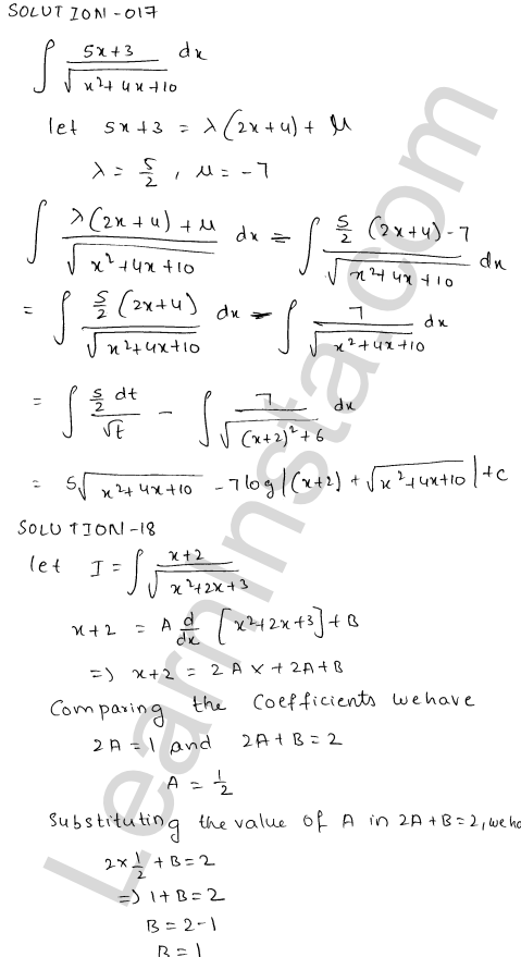 Class 12 RD Sharma maths solutions chapter 19 Indefinite Integrals Ex 19.21 14