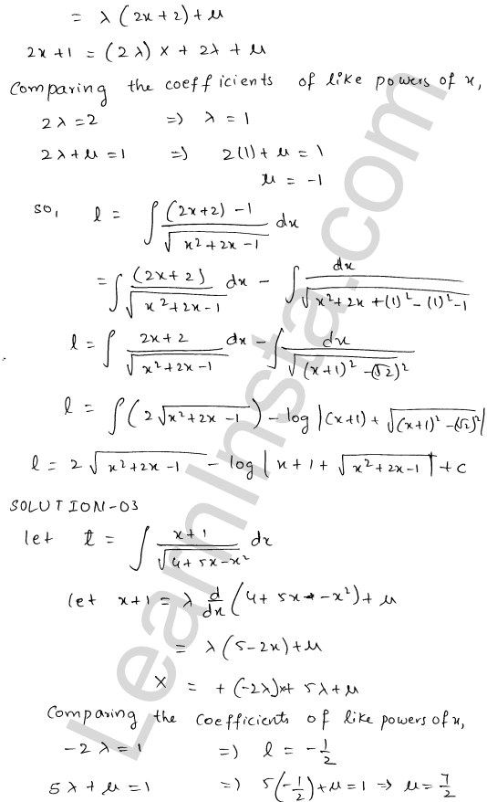 RD Sharma Class 12 Solutions Indefinite Integrals Chapter 19 Ex 19.21 2