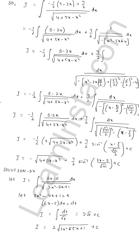 RD Sharma Solutions Class 12 Indefinite Integrals Chapter 19 Ex 19.21 3