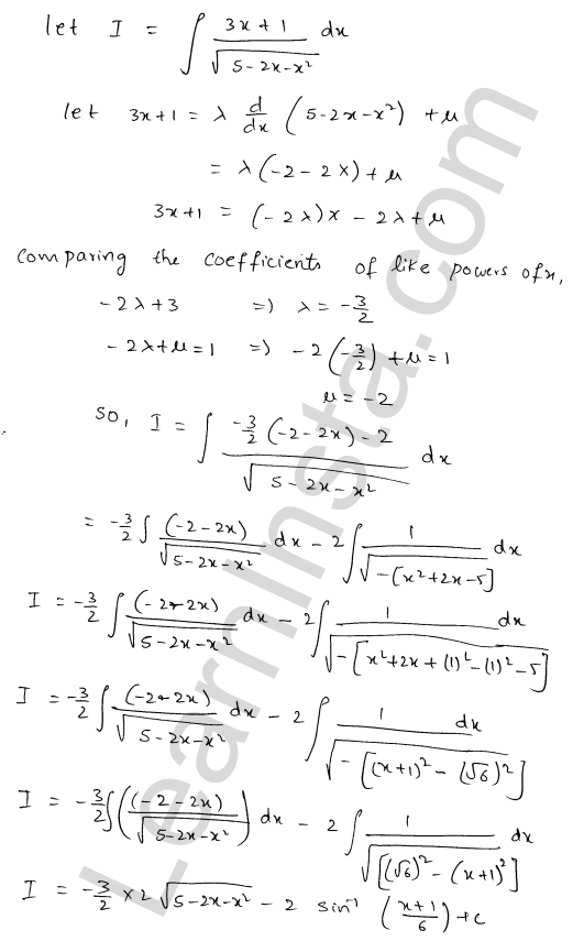 RD Sharma Class 12 Maths Solutions Chapter 19 Indefinite Integrals Ex 19.21 4