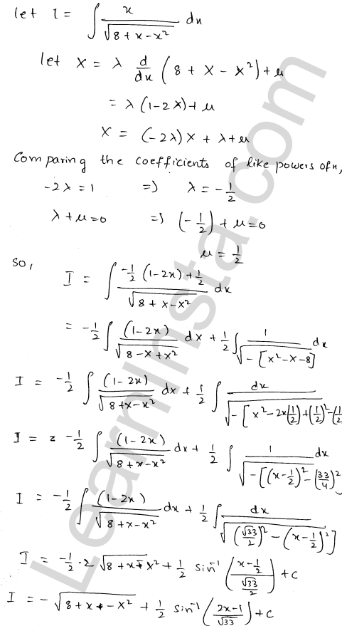 Solution of RD Sharma class 12 chapter 19 Indefinite Integrals Ex 19.21 5