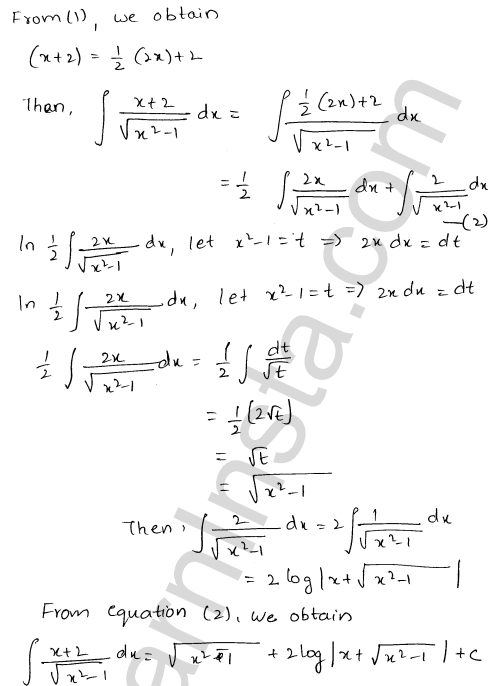 Class 12 RD Sharma maths solutions chapter 19 Indefinite Integrals Ex 19.21 7