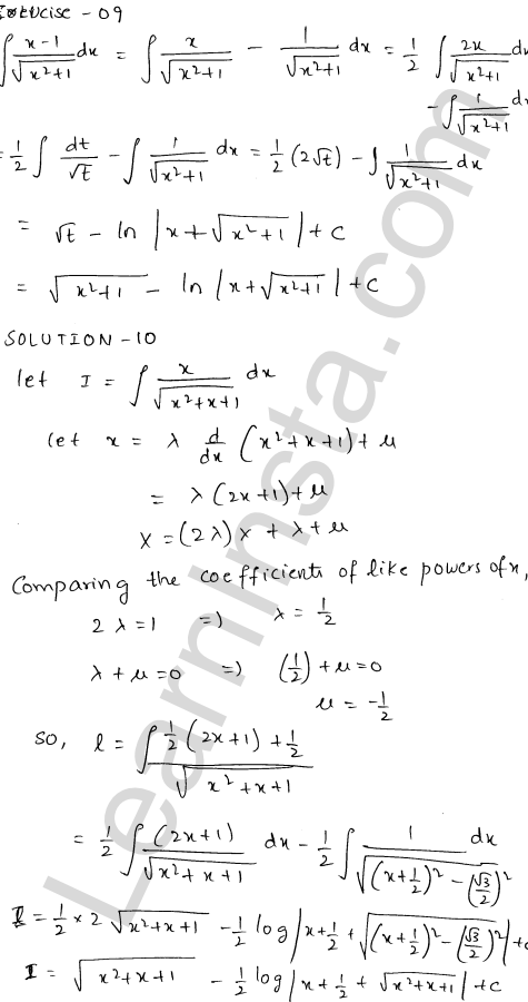 RD Sharma Class 12 Solutions Chapter 19 Indefinite Integrals Ex 19.21 8