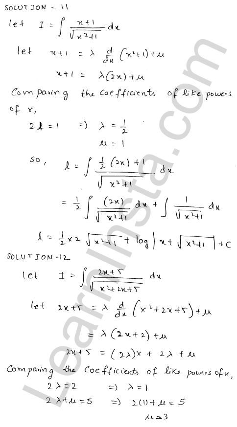 RD Sharma Class 12 Solutions Indefinite Integrals Chapter 19 Ex 19.21 9