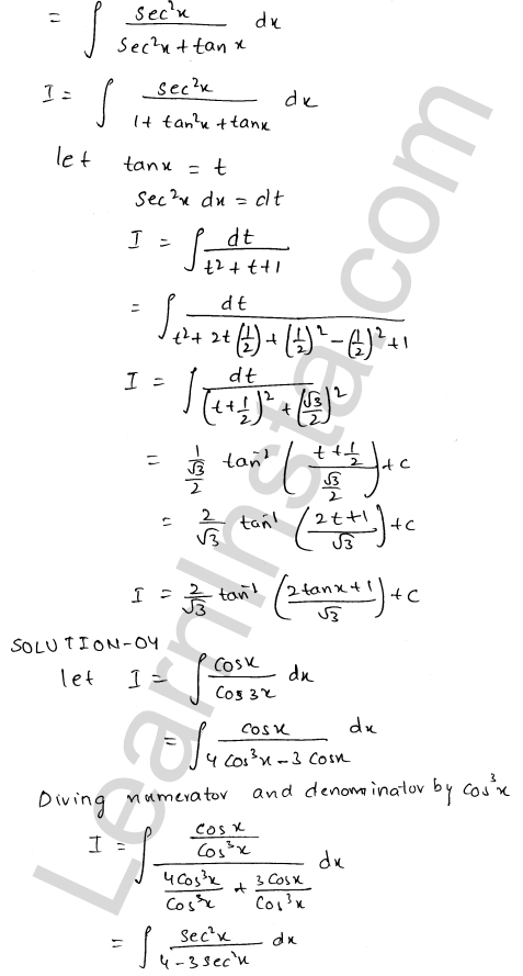 RD Sharma Solutions Class 12 Indefinite Integrals Chapter 19 Ex 19.22 3
