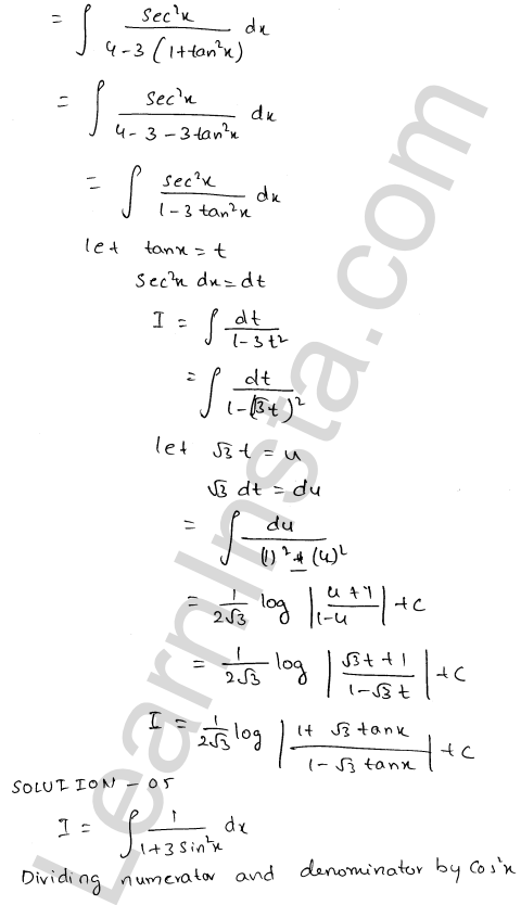 RD Sharma Class 12 Maths Solutions Chapter 19 Indefinite Integrals Ex 19.22 4