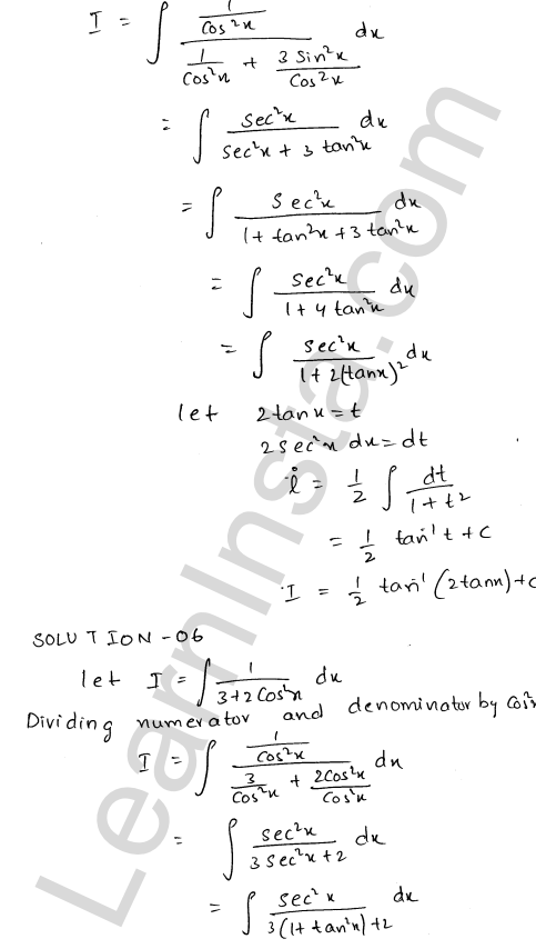 Solution of RD Sharma class 12 chapter 19 Indefinite Integrals Ex 19.22 5
