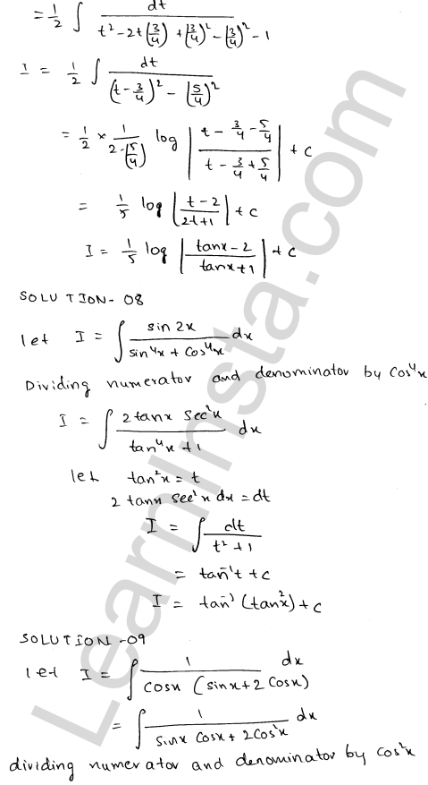 Class 12 RD Sharma maths solutions chapter 19 Indefinite Integrals Ex 19.22 7