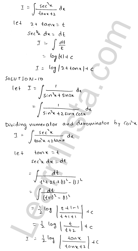 RD Sharma Class 12 Solutions Chapter 19 Indefinite Integrals Ex 19.22 8