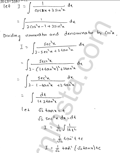 RD Sharma Class 12 Solutions Indefinite Integrals Chapter 19 Ex 19.22 9