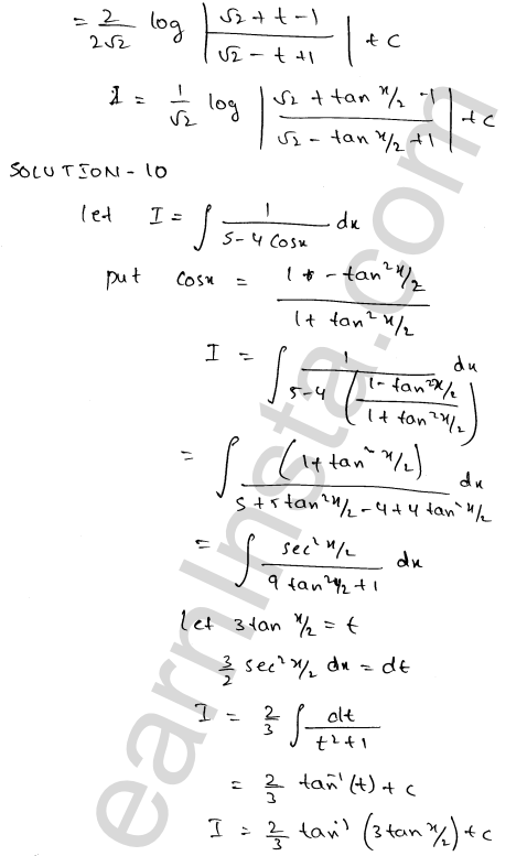 RD Sharma Solutions Class 12 Indefinite Integrals Chapter 19 Ex 19.23 10
