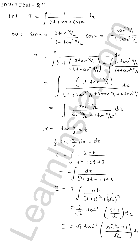 RD Sharma Class 12 Maths Solutions Chapter 19 Indefinite Integrals Ex 19.23 11