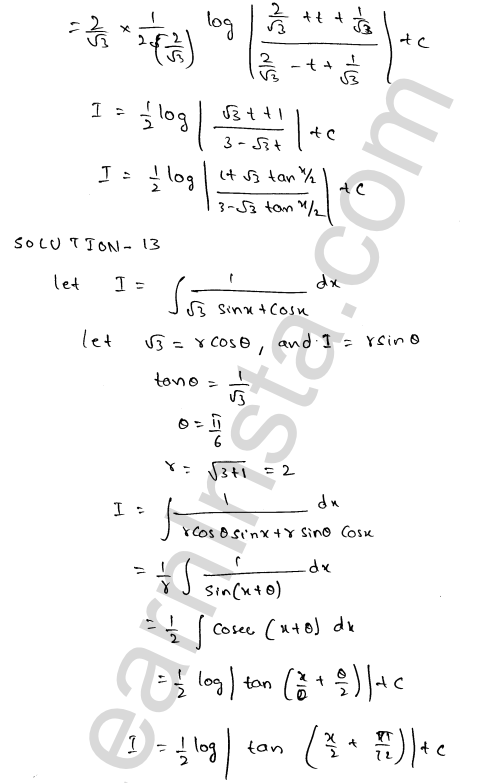 Class 12 RD Sharma solutions chapter 19 Indefinite Integrals Ex 19.23 13
