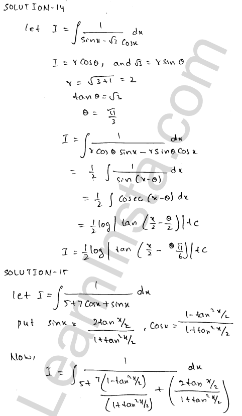 Class 12 RD Sharma maths solutions chapter 19 Indefinite Integrals Ex 19.23 14