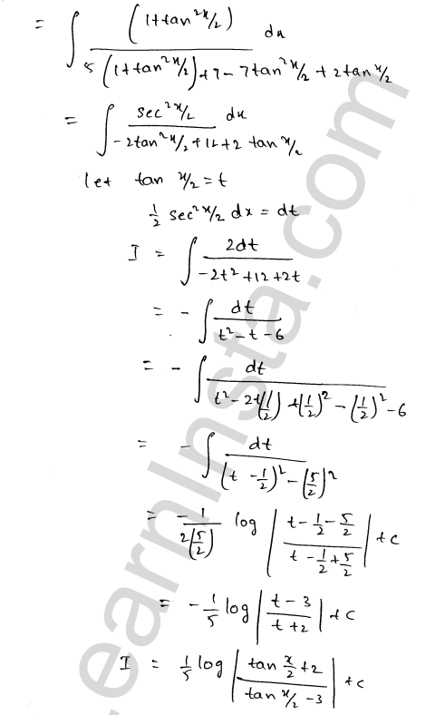 RD Sharma Class 12 Solutions Indefinite Integrals Chapter 19 Ex 19.23 15