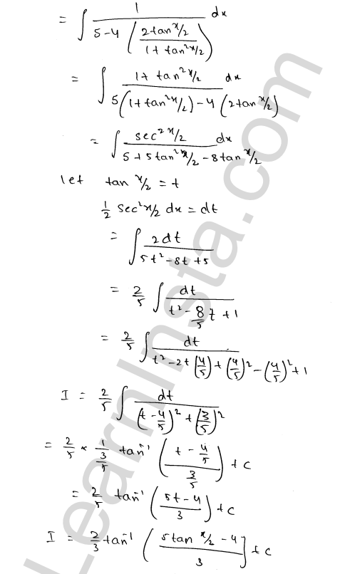 RD Sharma Class 12 Solutions Indefinite Integrals Chapter 19 Ex 19.23 2